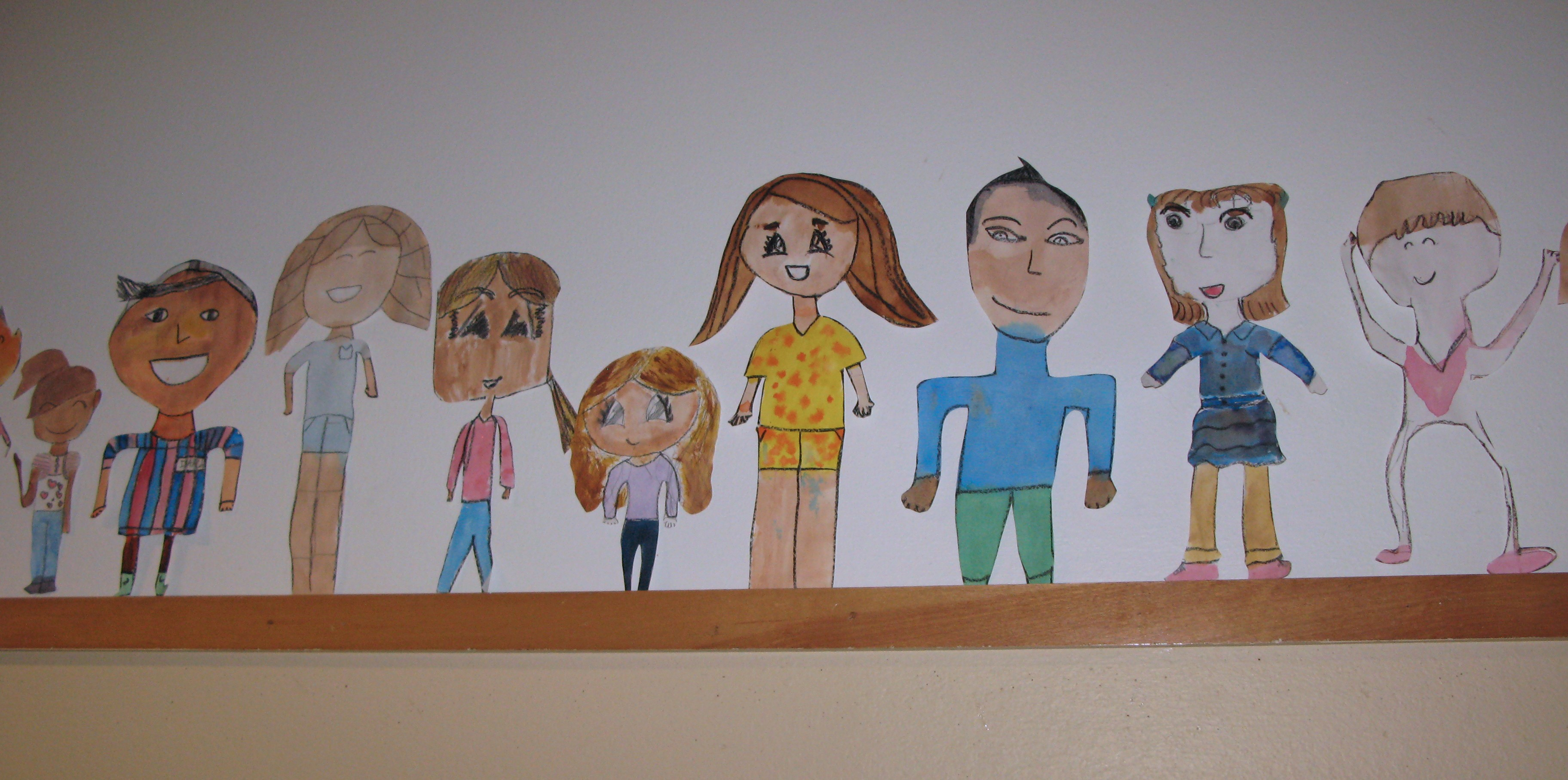 Paper People Wall Border