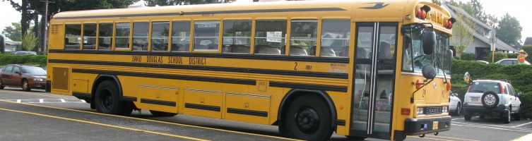 School Bus at VP Curb