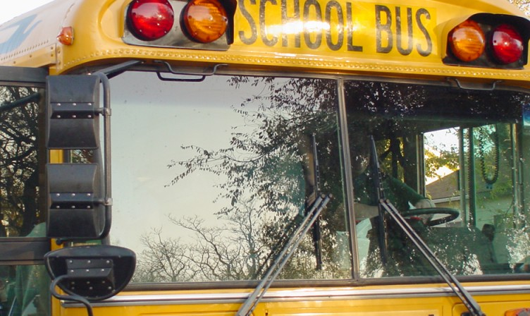School Bus Front Window