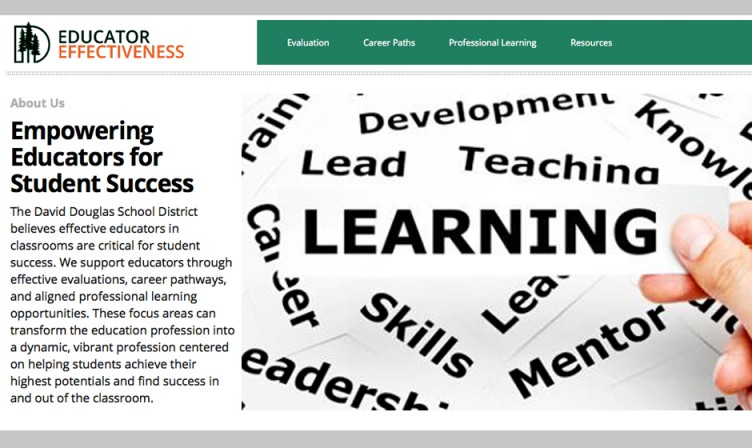 Educator Effectiveness Website Screenshot