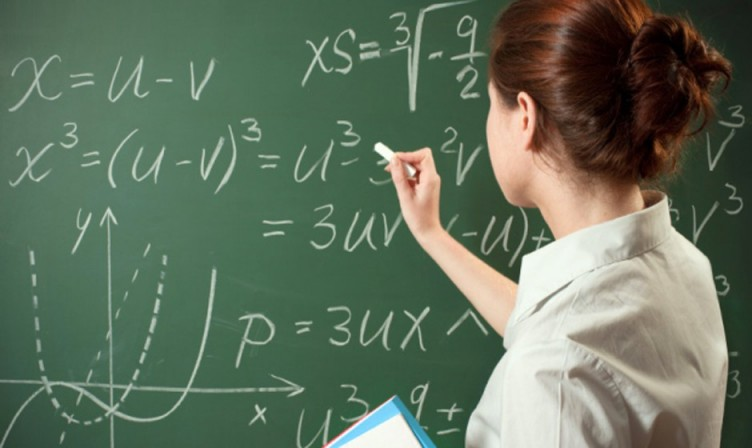 Math-teacher chalkboard
