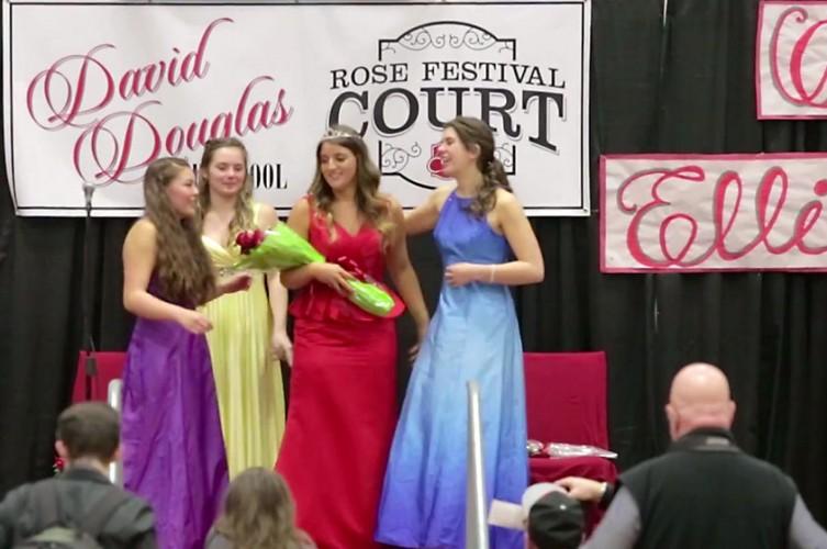 Rose Court Princess crowing 2015