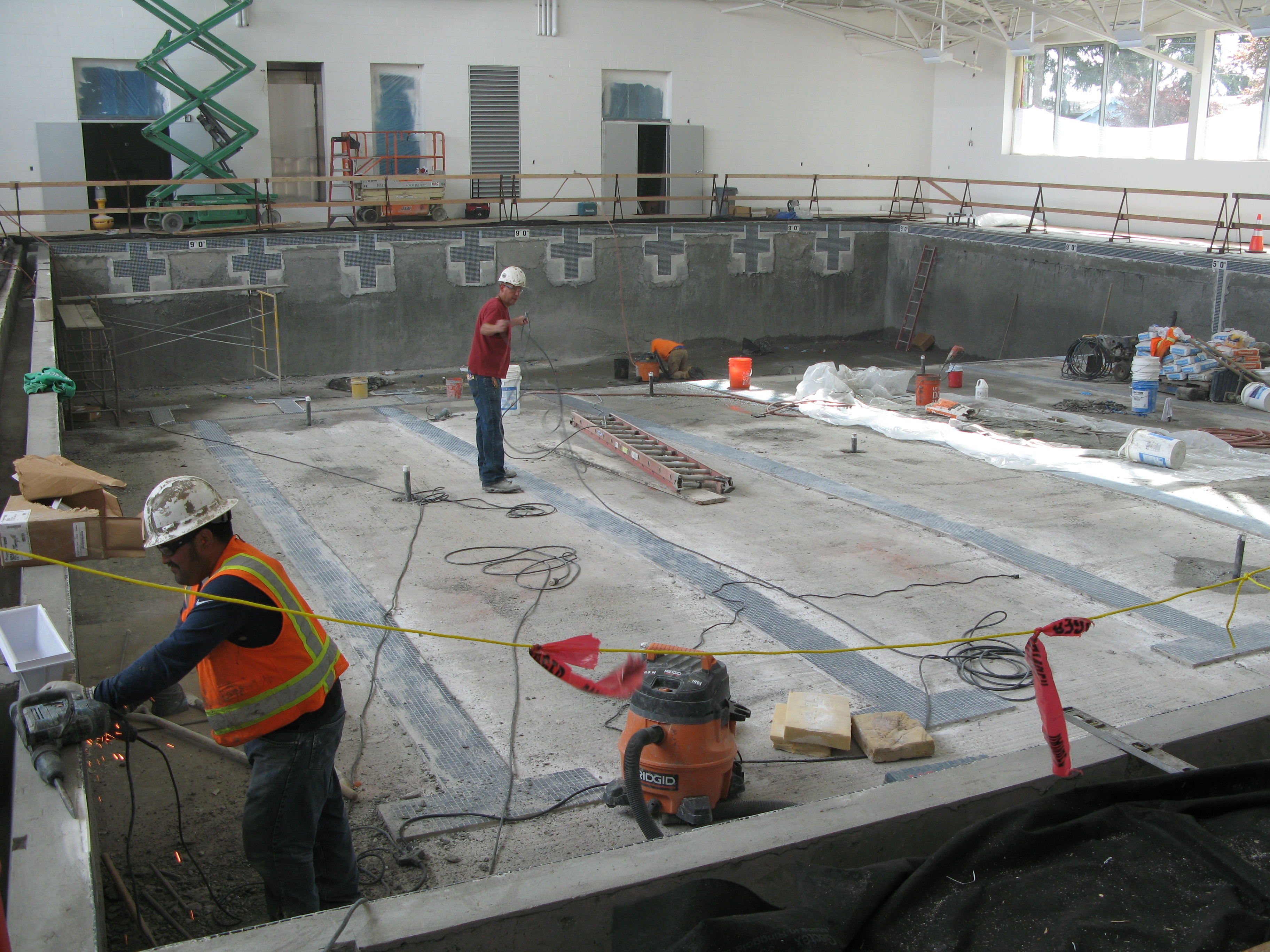 Aquatics center bond construction david douglas school for Pool builders