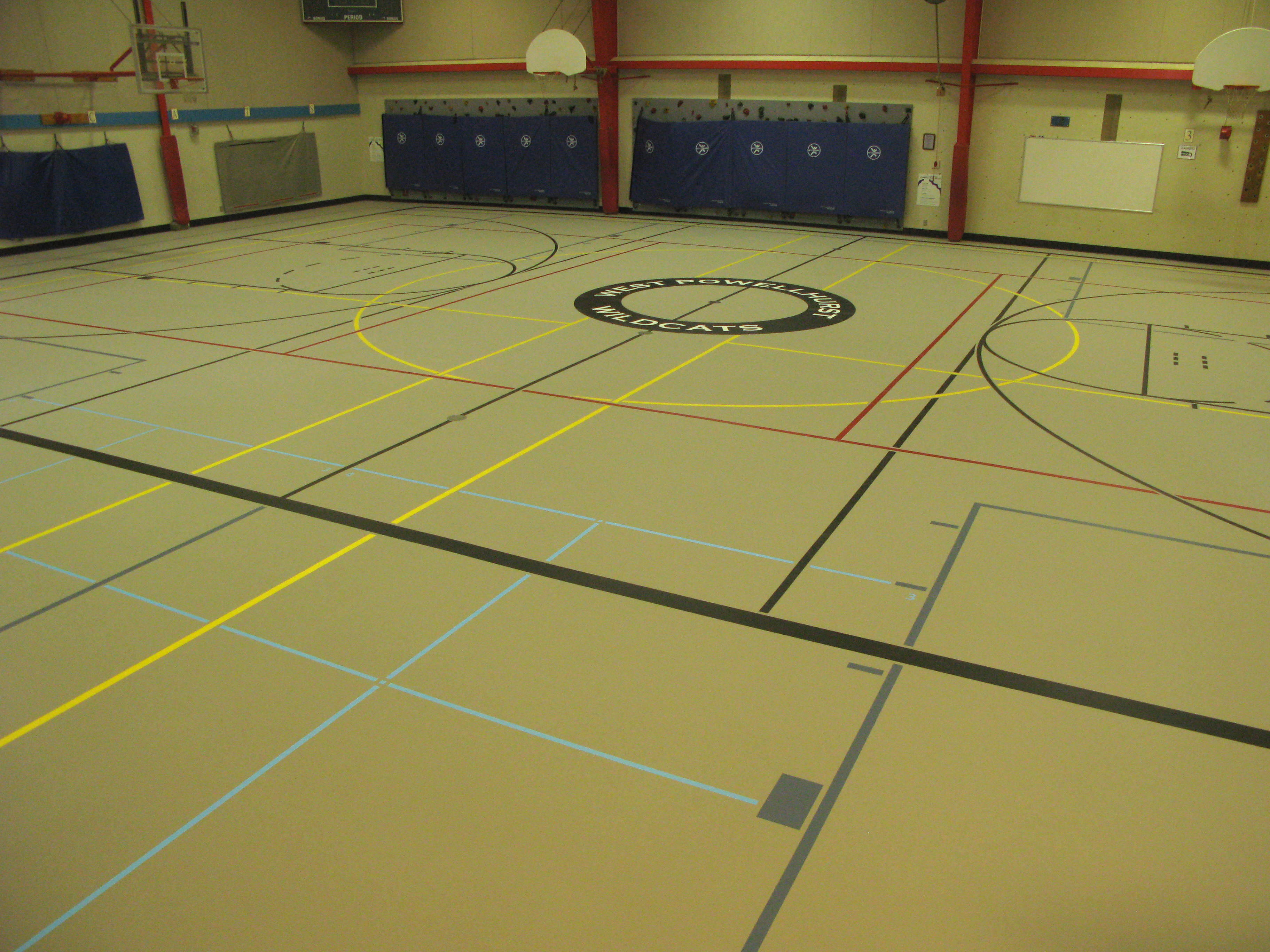 cladding and pin school floor gym pinterest wall old