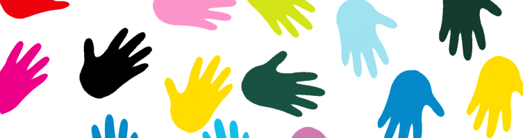 colorful hands graphic 2