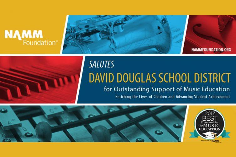 Music education award banner