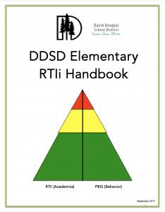 DDSD Elementary RTIi Handbook