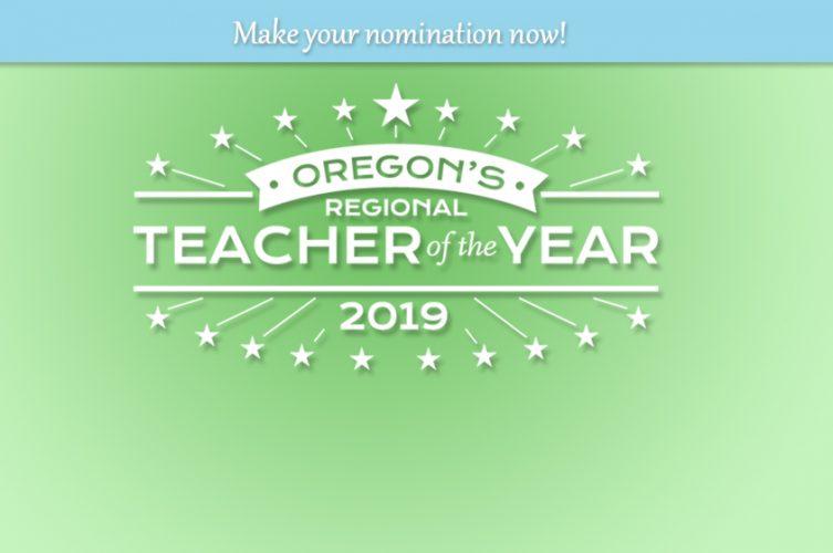 Oregon's Teacher of the Year Logo