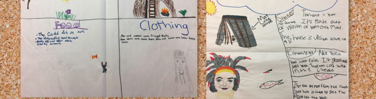 Two poster projects about the Klamath and Nez Perez Tribes