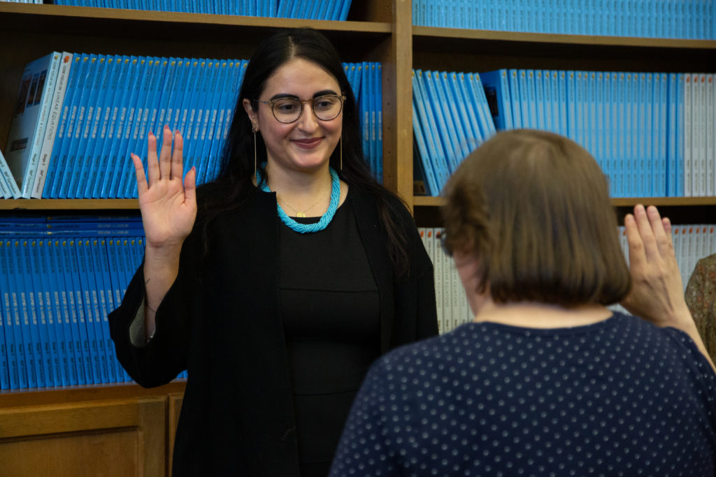 Sahar Muranovic is sworn in as Board Member