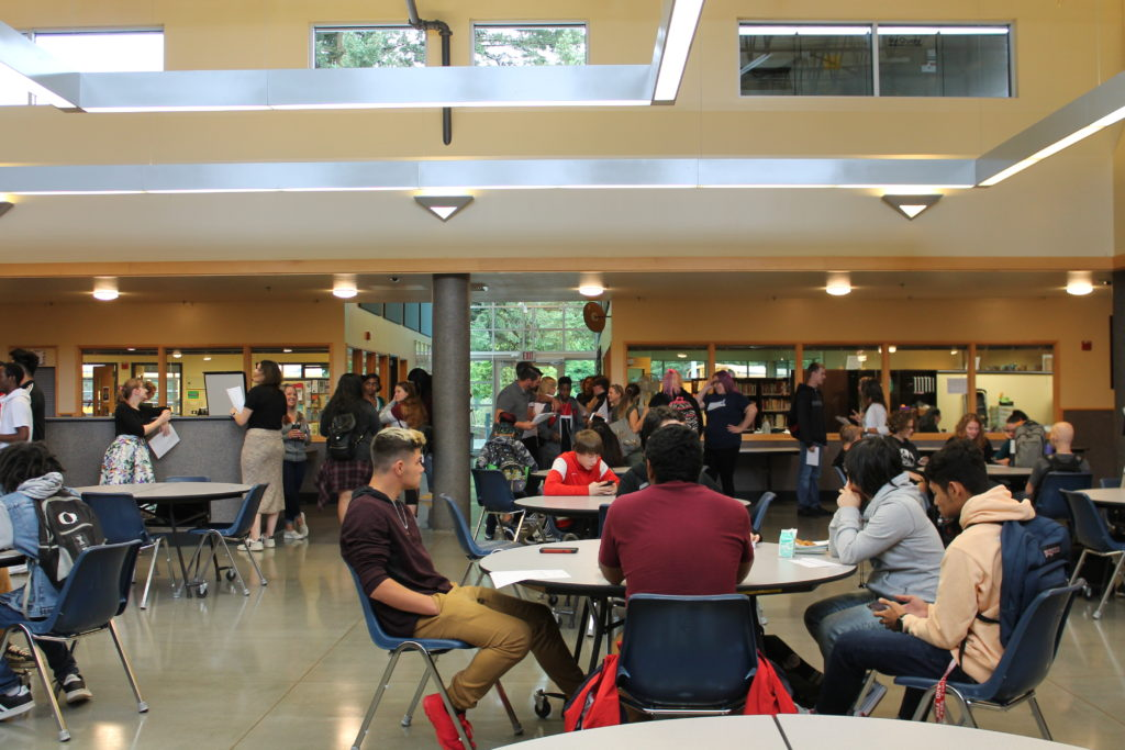 Students in FRC Commons area