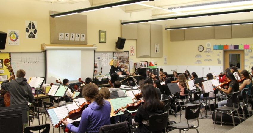 Orchestra Classroom at RRMS