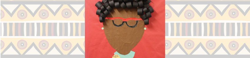 """Classroom Door decorated with paper Shirley Chisholm and quote """"If they don't give you a seat at the table...bring a folding chair."""""""