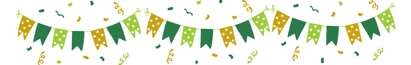 Party banner with confetti (clipart)